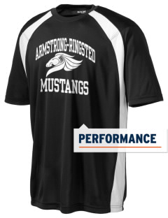 Armstrong-Ringsted Middle School Mustangs Men's Dry Zone Colorblock T-Shirt