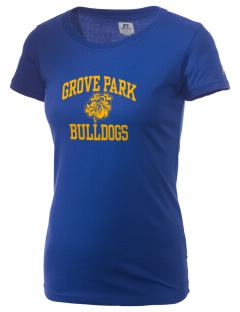Grove Park Elementary School Bulldogs  Russell Women's Campus T-Shirt