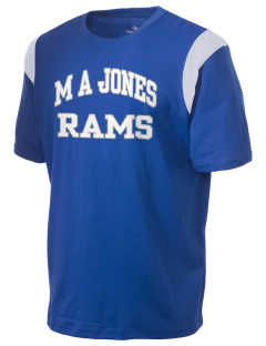 M A Jones Elementary School Rams Holloway Men's Rush T-Shirt