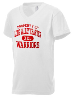 Long Valley Charter School Warriors Kid's V-Neck Jersey T-Shirt