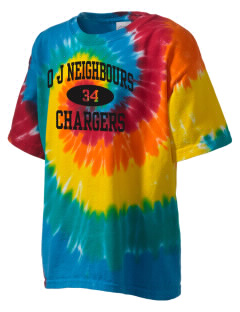 O J Neighbours Elementary School Chargers Kid's Tie-Dye T-Shirt