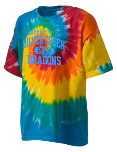 Silver Creek Elementary School Dragons Kid's Tie-Dye T-Shirt