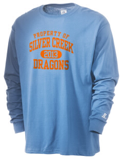Silver Creek Elementary School Dragons  Russell Men's Long Sleeve T-Shirt