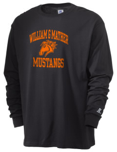 William G Mather Middle School Mustangs  Russell Men's Long Sleeve T-Shirt