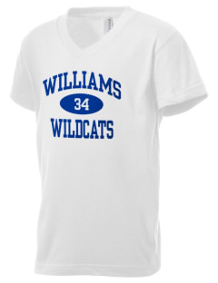 Williams Elementary School Wildcats Kid's V-Neck Jersey T-Shirt