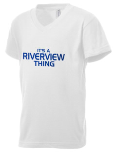 Riverview Elementary School Rockets Kid's V-Neck Jersey T-Shirt