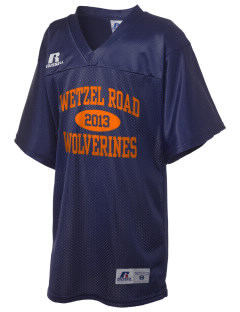 Wetzel Road Elementary School Wolverines Russell Kid's Replica Football Jersey