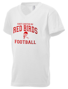 East Carter R2 School Red Birds Kid's V-Neck Jersey T-Shirt