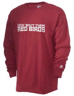 East Carter R2 School Red Birds  Russell Men's Long Sleeve T-Shirt
