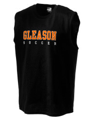 The perfect in-between custom Gleason School Bulldogs sleeveless crewneck T-Shirt.  The Gleason School Bulldogs sleeveless tee is preshrunk with double-needle stitching on neck, and hemmed armholes.  Ash color is 99% cotton, 1% polyester.  Sport Grey is 90% cotton, 10% polyester.