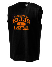 The perfect in-between custom Ellis High School Railroaders sleeveless crewneck T-Shirt.  The Ellis High School Railroaders sleeveless tee is preshrunk with double-needle stitching on neck, and hemmed armholes.  Ash color is 99% cotton, 1% polyester.  Sport Grey is 90% cotton, 10% polyester.