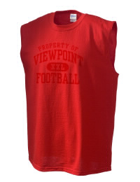 The perfect in-between custom Viewpoint School Patriots sleeveless crewneck T-Shirt.  The Viewpoint School Patriots sleeveless tee is preshrunk with double-needle stitching on neck, and hemmed armholes.  Ash color is 99% cotton, 1% polyester.  Sport Grey is 90% cotton, 10% polyester.