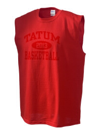 The perfect in-between custom Tatum High School Coyotes sleeveless crewneck T-Shirt.  The Tatum High School Coyotes sleeveless tee is preshrunk with double-needle stitching on neck, and hemmed armholes.  Ash color is 99% cotton, 1% polyester.  Sport Grey is 90% cotton, 10% polyester.