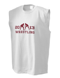 The perfect in-between custom Bluefield Senior High School Beavers sleeveless crewneck T-Shirt.  The Bluefield Senior High School Beavers sleeveless tee is preshrunk with double-needle stitching on neck, and hemmed armholes.  Ash color is 99% cotton, 1% polyester.  Sport Grey is 90% cotton, 10% polyester.