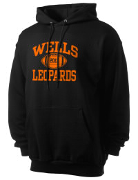 Crafted for comfort, this lighter weight Wells High School Leopards hooded sweatshirt is perfect for relaxing and it's a real value for a sportswear hoody. A must have for the serious Wells High School Leopards apparel and merchandise collection. 50/50 cotton/poly fleece hoodie with two-ply hood, dyed-to-match drawcord, set-in sleeves, and front pouch pocket round out the features of a Leopards hooded sweatshirt.