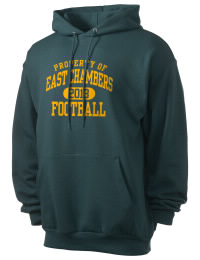 Crafted for comfort, this lighter weight East Chambers High Buccaneers hooded sweatshirt is perfect for relaxing and it's a real value for a sportswear hoody. A must have for the serious East Chambers High Buccaneers apparel and merchandise collection. 50/50 cotton/poly fleece hoodie with two-ply hood, dyed-to-match drawcord, set-in sleeves, and front pouch pocket round out the features of a Buccaneers hooded sweatshirt.
