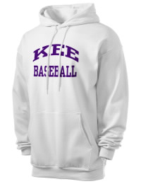 Crafted for comfort, this lighter weight Kee High School Hawks hooded sweatshirt is perfect for relaxing and it's a real value for a sportswear hoody. A must have for the serious Kee High School Hawks apparel and merchandise collection. 50/50 cotton/poly fleece hoodie with two-ply hood, dyed-to-match drawcord, set-in sleeves, and front pouch pocket round out the features of a Hawks hooded sweatshirt.