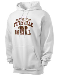 Crafted for comfort, this lighter weight Titusville High School Rockets hooded sweatshirt is perfect for relaxing and it's a real value for a sportswear hoody. A must have for the serious Titusville High School Rockets apparel and merchandise collection. 50/50 cotton/poly fleece hoodie with two-ply hood, dyed-to-match drawcord, set-in sleeves, and front pouch pocket round out the features of a Rockets hooded sweatshirt.