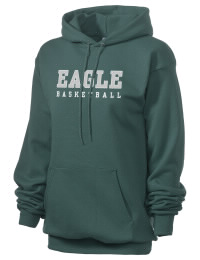 Crafted for comfort, this lighter weight Eagle High School Mustangs hooded sweatshirt is perfect for relaxing and it's a real value for a sportswear hoody. A must have for the serious Eagle High School Mustangs apparel and merchandise collection. 50/50 cotton/poly fleece hoodie with two-ply hood, dyed-to-match drawcord, set-in sleeves, and front pouch pocket round out the features of a Mustangs hooded sweatshirt.