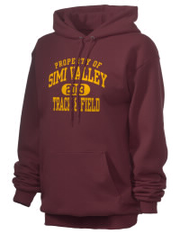 Crafted for comfort, this lighter weight Simi Valley High School Pioneers hooded sweatshirt is perfect for relaxing and it's a real value for a sportswear hoody. A must have for the serious Simi Valley High School Pioneers apparel and merchandise collection. 50/50 cotton/poly fleece hoodie with two-ply hood, dyed-to-match drawcord, set-in sleeves, and front pouch pocket round out the features of a Pioneers hooded sweatshirt.