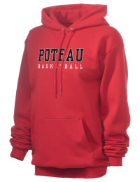Crafted for comfort, this lighter weight Poteau High School Pirates hooded sweatshirt is perfect for relaxing and it's a real value for a sportswear hoody. A must have for the serious Poteau High School Pirates apparel and merchandise collection. 50/50 cotton/poly fleece hoodie with two-ply hood, dyed-to-match drawcord, set-in sleeves, and front pouch pocket round out the features of a Pirates hooded sweatshirt.