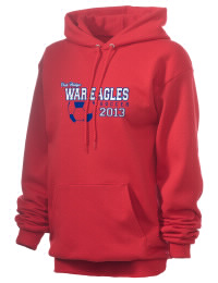 Crafted for comfort, this lighter weight Oak Ridge High School War Eagles hooded sweatshirt is perfect for relaxing and it's a real value for a sportswear hoody. A must have for the serious Oak Ridge High School War Eagles apparel and merchandise collection. 50/50 cotton/poly fleece hoodie with two-ply hood, dyed-to-match drawcord, set-in sleeves, and front pouch pocket round out the features of a War Eagles hooded sweatshirt.