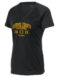 The Ladies Ultimate Performance V-Neck Fleming County High School Panthers tee is perfect for your active lifestyle.  The V-neck performance t-shirt is made with moisture wicking fabric and has a soft, cotton-like feel. This layerable Fleming County High School Panthers V-neck tee is sure to become a favorite on and off the court.