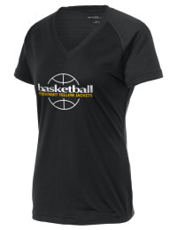 The Ladies Ultimate Performance V-Neck Rockmart High School Yellow Jackets tee is perfect for your active lifestyle.  The V-neck performance t-shirt is made with moisture wicking fabric and has a soft, cotton-like feel. This layerable Rockmart High School Yellow Jackets V-neck tee is sure to become a favorite on and off the court.