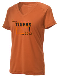 The Ladies Ultimate Performance V-Neck Ephrata Middle School Tigers tee is perfect for your active lifestyle.  The V-neck performance t-shirt is made with moisture wicking fabric and has a soft, cotton-like feel. This layerable Ephrata Middle School Tigers V-neck tee is sure to become a favorite on and off the court.