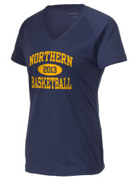 The Ladies Ultimate Performance V-Neck Northern High School Knights tee is perfect for your active lifestyle.  The V-neck performance t-shirt is made with moisture wicking fabric and has a soft, cotton-like feel. This layerable Northern High School Knights V-neck tee is sure to become a favorite on and off the court.