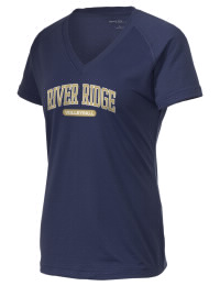 The Ladies Ultimate Performance V-Neck River Ridge High School Knights tee is perfect for your active lifestyle.  The V-neck performance t-shirt is made with moisture wicking fabric and has a soft, cotton-like feel. This layerable River Ridge High School Knights V-neck tee is sure to become a favorite on and off the court.