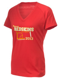 The Ladies Ultimate Performance V-Neck Calaveras High School Redskins tee is perfect for your active lifestyle.  The V-neck performance t-shirt is made with moisture wicking fabric and has a soft, cotton-like feel. This layerable Calaveras High School Redskins V-neck tee is sure to become a favorite on and off the court.