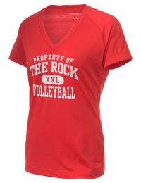 The Ladies Ultimate Performance V-Neck The Rock School Lions tee is perfect for your active lifestyle.  The V-neck performance t-shirt is made with moisture wicking fabric and has a soft, cotton-like feel. This layerable The Rock School Lions V-neck tee is sure to become a favorite on and off the court.