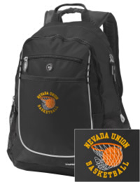 A go-anywhere Nevada Union High School Miners backpack design in a streamlined size that's engineered to hold all the essentials in place. Convenient dual-side mesh water bottle pockets, and front pocket with organizer panel. Great for Nevada Union High School Miners fan gear.