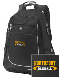 A go-anywhere Northport High School Tigers backpack design in a streamlined size that's engineered to hold all the essentials in place. Convenient dual-side mesh water bottle pockets, and front pocket with organizer panel. Great for Northport High School Tigers fan gear.