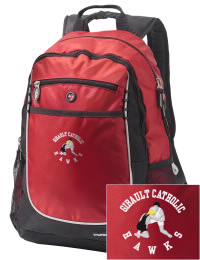 A go-anywhere Gibault Catholic High School Hawks backpack design in a streamlined size that's engineered to hold all the essentials in place. Convenient dual-side mesh water bottle pockets, and front pocket with organizer panel. Great for Gibault Catholic High School Hawks fan gear.