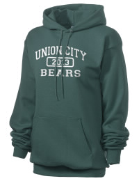 Crafted for comfort, this lighter weight embroidered Union City Area High School Bears hooded sweatshirt is perfect for relaxing.  A must have hoody for the serious Union City Area High School Bears apparel and merchandise collection. 50/50 cotton/poly fleece hoodie with two-ply hood, dyed-to-match drawcord, set-in sleeves, and front pouch pocket round out the features of a Bears hooded sweatshirt.