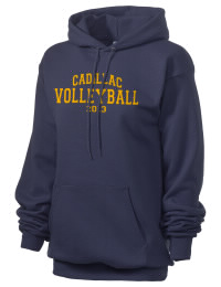 Crafted for comfort, this lighter weight embroidered Cadillac High School Vikings hooded sweatshirt is perfect for relaxing.  A must have hoody for the serious Cadillac High School Vikings apparel and merchandise collection. 50/50 cotton/poly fleece hoodie with two-ply hood, dyed-to-match drawcord, set-in sleeves, and front pouch pocket round out the features of a Vikings hooded sweatshirt.
