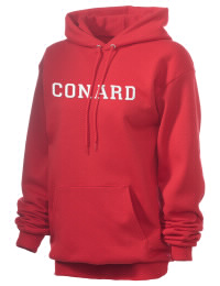 Crafted for comfort, this lighter weight embroidered Conard High School Chieftains hooded sweatshirt is perfect for relaxing.  A must have hoody for the serious Conard High School Chieftains apparel and merchandise collection. 50/50 cotton/poly fleece hoodie with two-ply hood, dyed-to-match drawcord, set-in sleeves, and front pouch pocket round out the features of a Chieftains hooded sweatshirt.