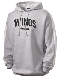 Get a little two-tone style with this custom tackle twill Wings Academy Wings  hoodie. It's colorfast so it will look sharp wash after wash, and it resists shrinking so it will keep its roomy fit. The sleeve stripe helps it stand apart from the rest of the hoodies in the crowd.