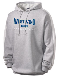 Get a little two-tone style with this custom tackle twill Westwind Academy Warriors hoodie. It's colorfast so it will look sharp wash after wash, and it resists shrinking so it will keep its roomy fit. The sleeve stripe helps it stand apart from the rest of the hoodies in the crowd.