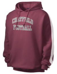 Get a little two-tone style with this custom tackle twill Chatfield Senior High School Chargers hoodie. It's colorfast so it will look sharp wash after wash, and it resists shrinking so it will keep its roomy fit. The sleeve stripe helps it stand apart from the rest of the hoodies in the crowd.