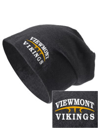 On the street or on the slopes, stay warm and look cool in this Viewmont High School Vikings knit hat. An acyrlic/polyester blend beanie with a snug yet slouchy fit. Embroidery will not be on center front, but off centered to the left.