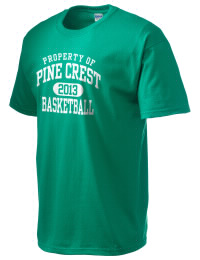 This custom Pine Crest School Panthers crewneck t-shirt with a seamless collar turns a classic into an ultra comfortable apparel choice. Customize this t-shirt with your favorite Panthers design and personalize with your Pine Crest School Panthers year. Choose your custom design for your tee and wear this customized t-shirt proudly.
